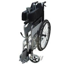 Lightweight Self Propelled Wheelchair Heavy Duty Folding Commode Padded Chair