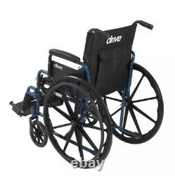 Lightweight Wheelchairs Foldable Flip Back Removable Arms 18 Seat Wheel Locks