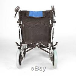Lightweight deluxe folding transit aluminium travel wheelchair ECTR02-18 demo