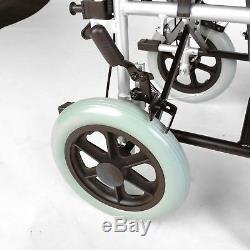 Lightweight deluxe narrow 16 seat folding transit travel wheelchair ECTR02-16