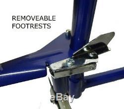 Lightweight folding Transit aluminium travel wheelchair with handbrakes ECTR01