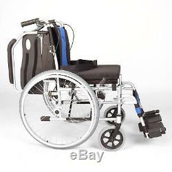 Lightweight folding narrow self propelled wheelchair hand brakes ECSP01-16