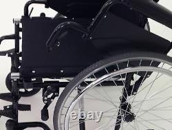 Lightweight folding self propel wheelchair flip up armrests and lap belt ECSP02