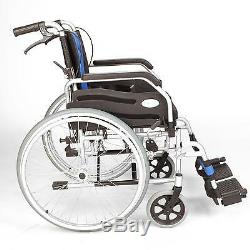 Lightweight folding self propel wheelchair with hand brakes & 20 wide seat