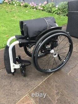 Lightweight folding self propelled wheelchair. Seat width 17 Inch