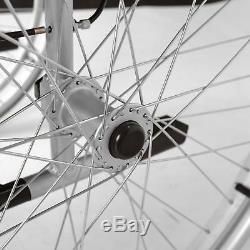 Lightweight folding self propelled wheelchair hand brakes Elite Care ECSP01-18