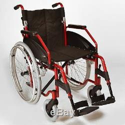 Lightweight folding self propelled wheelchair with quick release wheels ECSP03