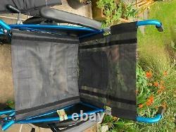 Lightweight folding wheelchair used
