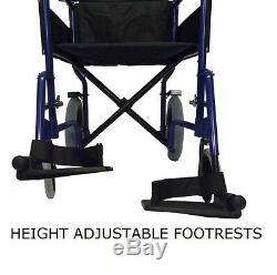 Lightweight heavy duty folding travel Wheelchair in a bag with brakes ECTR04HD