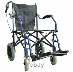 Lightweight heavy duty folding travel Wheelchair in bag & brakes ECTR04HD USED
