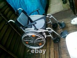 Lightweight wide folding self propelled wheelchair. (collect Gloucester&save £25)