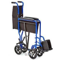 Lynx 4 Aluminium Lightweight Folding Transit Hospital Wheelchair