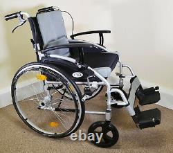 M Brand D Lite X Wheelchair Lightweight Self Propel with Attendant Brakes