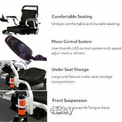 NEW Pride I Go Transportable Lightweight Folding Electric Wheelchair Powerchair