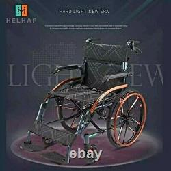 New Advanced Magnesium Alloy Lightweight Foldable Wheelchair-Wide wheels