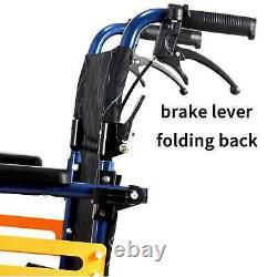 New Aluminium Folding Wheelchair Self Propelled Lightweight Transit Hand Brake
