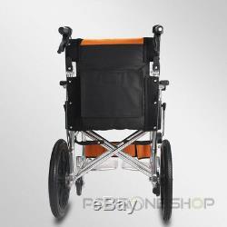 PRATIKA Wheelchair lightweight folding transit aluminium travel portable chair