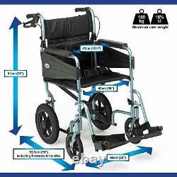 Patterson Medical Swift Self-Propelled Wheelchair Lightweight Aluminium Frame