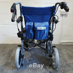 Powercruise Lightweight folding wheelchair with electric powerpack built in