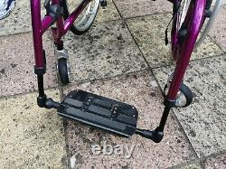 Quickie Neon2 manual lightweight folding wheelchair purple perfect condition