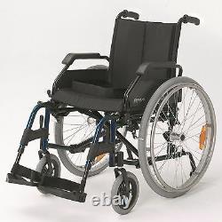 Roma Medical 1500 Lightweight Self Propelling Wheelchair Blue