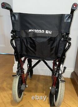 Roma Medical Lightweight Aluminium Folding Wheelchair