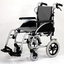 Roma Orbit 1330 Lightweight Folding Transit Wheelchair Attendant Aluminium