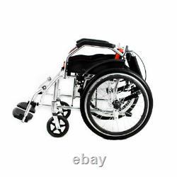 Self Propelled Wheelchair Wheelwing Aluminium Travel Chair Lightweight Folding