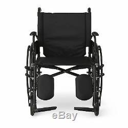 Self Propelled Wheelchair lightweight folding Manual Wheelchair Padded Leg Rests