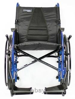 Strongback Mobility 24 Lightweight Compact Fold Wheelchair with Brakes 16/18/20