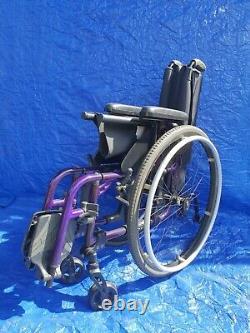 Ti Lite AeroX Folding Active Wheelchair purple lightweight