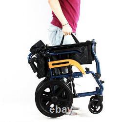UK Ultra Lightweight Folding Aluminium Transit Atte Propelled Manual Wheelchair