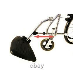 UK Ultra Lightweight Folding Aluminium Transit Atten Propelled Manual Wheelchair