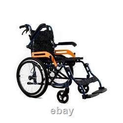 UK Ultra Lightweight Folding Aluminium Transit Self Propelled Manual Wheelchair