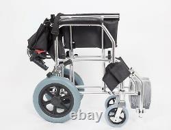 Ultra Lightweight Compact Travel Transit Aluminum Wheelchair 8.3kg