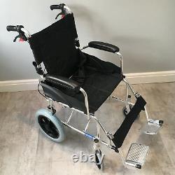 Ultra Lightweight Folding ALUMINIUM Travel Wheelchair, Portable Transit Chair