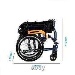 Ultra Lightweight Folding Aluminium Transit Self Propelled Manual Wheelchair