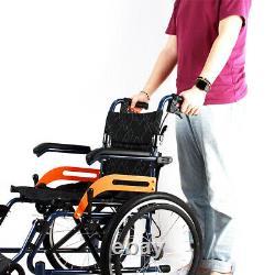 Ultra Lightweight Folding Aluminium Transit Self Propelled Manual Wheelchair New