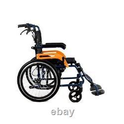 Ultra Lightweight Folding Aluminium Transit Self Propelled Manual Wheelchair UK