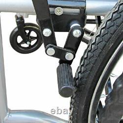 Ultra Lightweight Folding Self-Propelled Travel Wheelchair Portable WithLap Belt
