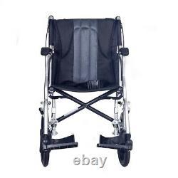 Ultra lightweight transit wheelchair with brakes attendant wheelchair ECTR08