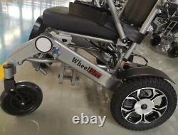 WheelPlus Electric Foldable Wheelchair Lightweight Lithium Battery 2x10AH