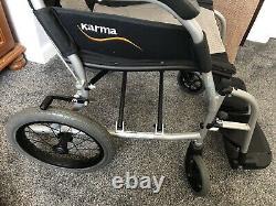 Wheelchair Karma Ergo Lite2 Folding Lightweight Transit Wheelchair with Brakes