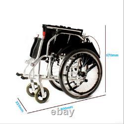 Wheelchair Lightweight Wheelwing Aluminium Travel Fully Folding Self Propelled