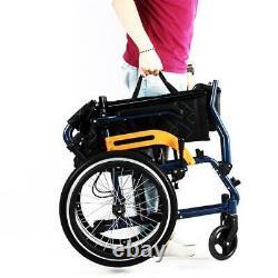 Wheelchair Wheelwing Ultra Lightweight Folding Aluminium Transit Self Propelled