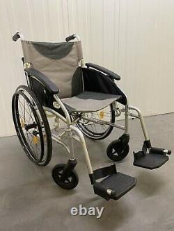 Wheelchair Z-Tec Grey Folding Portable Small Wheels Lightweight ZT-Lite-SP