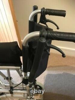 Z-Tec Travel wheelchair 7.5kg ultra lightweight folding compact attendant push